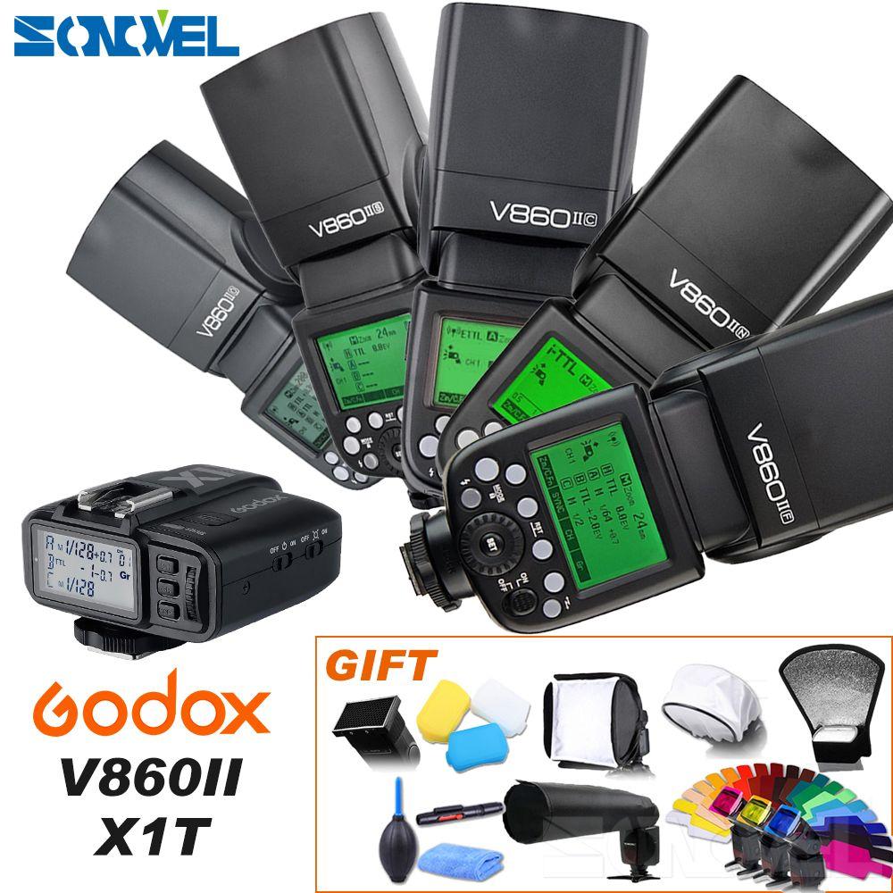 Godox V860II-C/N/S/F/O Flash 2.4G 1/8000s 2000mAh Li-on Battery Wireless Flash light For Sony Canon Nikon Olympus Fujifilm
