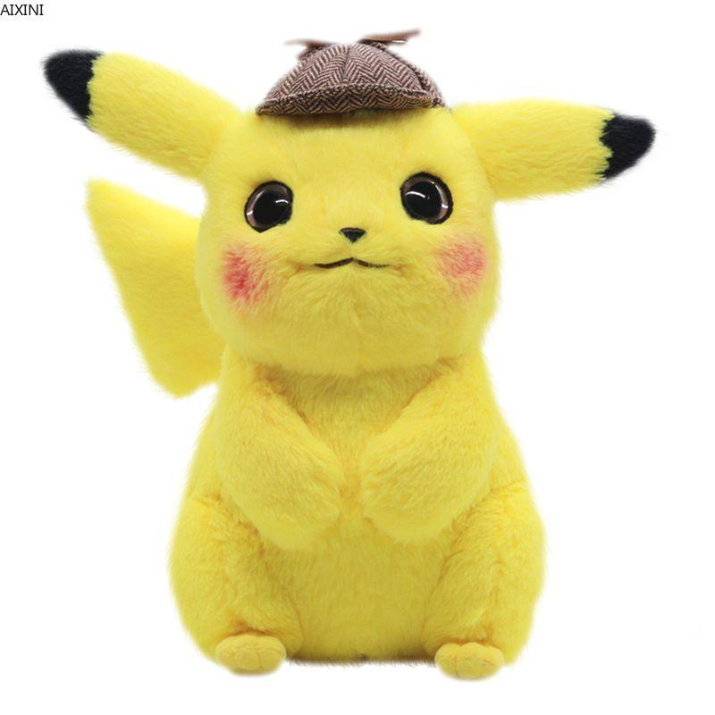 28cm Pikachu peluche jouet détective Pikachu japon film Anime jouets pour enfants poupée pour enfant bébé cadeaux d'anniversaire Anime