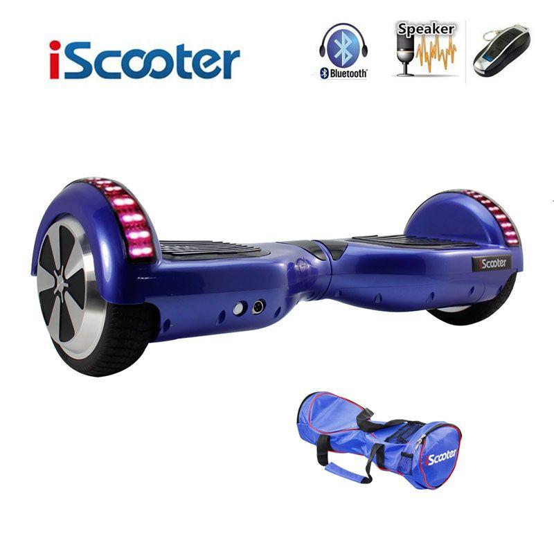 Bluetooth Hoverboard Elektrische Skateboard 2 Räder Smart lenkung-rad Selbst Balance Roller Balance Hover board mit LED UL2272