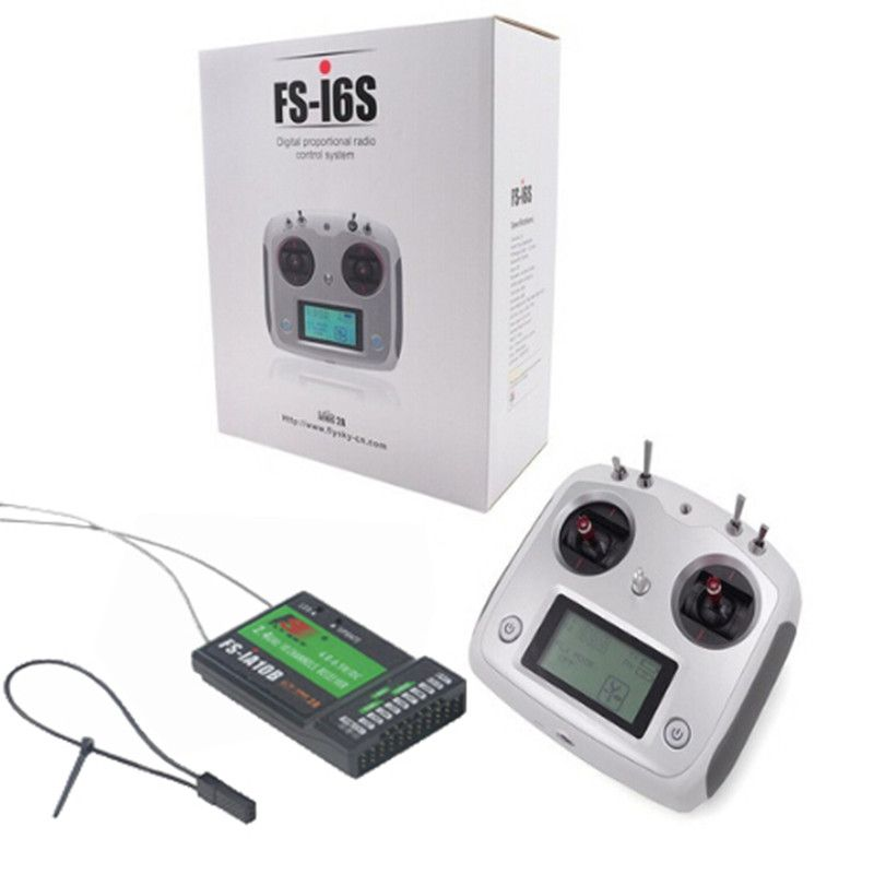 Flysky FS-i6S Remote Control 2.4G 10CH AFHDS Transmitter FS-IA10B Receiver for RC Quadcopter Multirotor Drone F18975/6