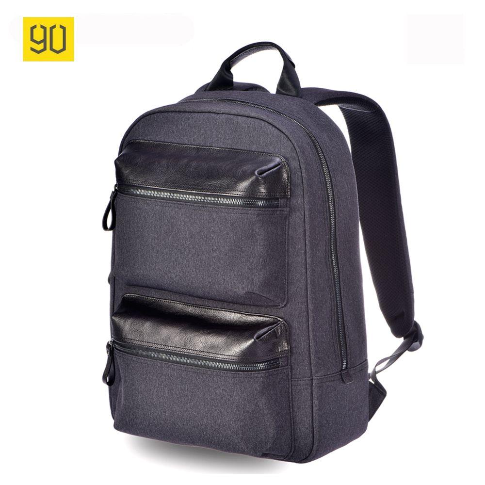 Original Xiaomi 90 Fun Multifunctional Genuine Leather Backpack Business Rucksack Fashion School Bag For 14 Inch Laptop