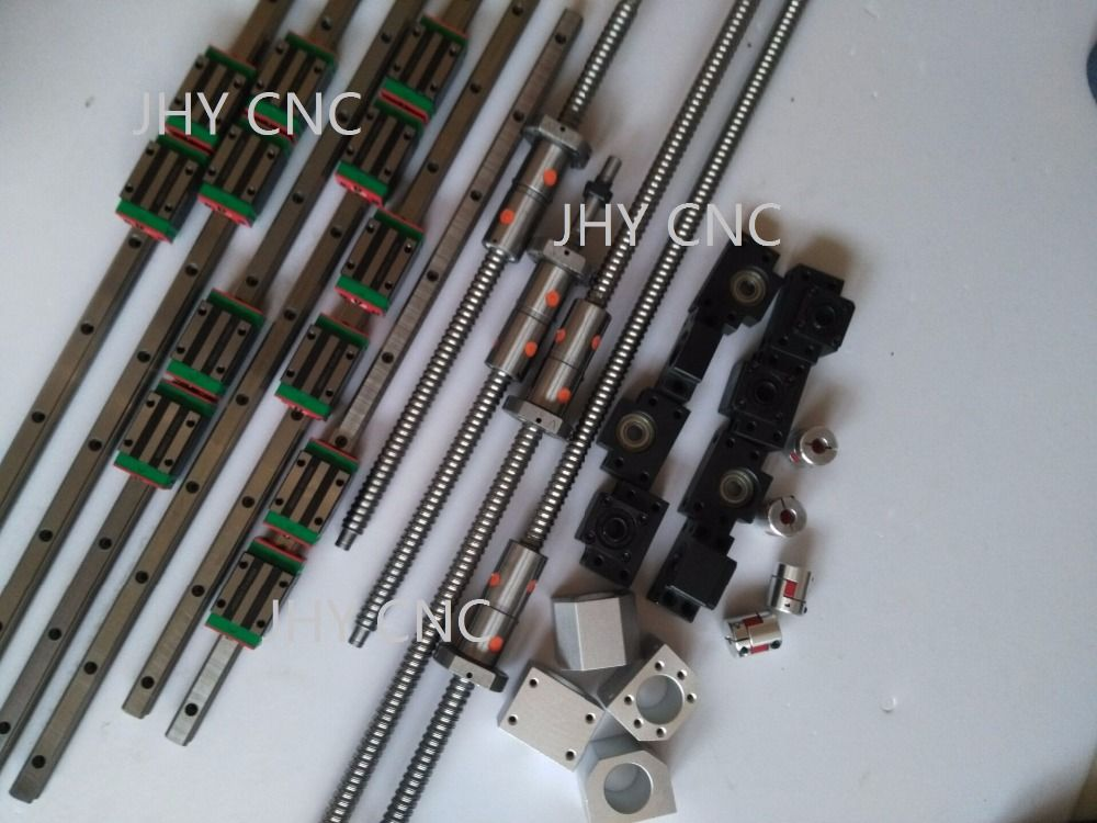 25 мм JHY линейной направляющей вагонов комплект dfu2505 ШВП комплект, 2.2kw мотор шпинделя. Продвижение некоторое время