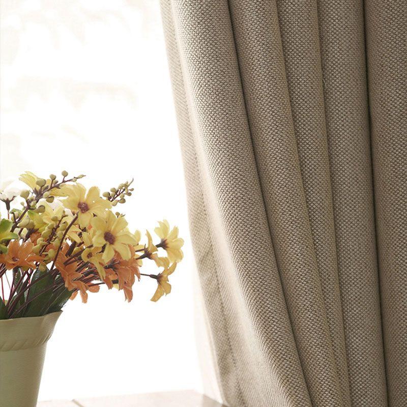 Одноцветное Цвета плотные Шторы для Спальня Пряжа окрашенные ткани украшение дома искусственную белье современный Гостиная Шторы панели