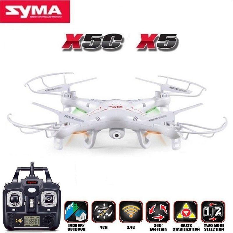 Hélicoptère télécommandé SYMA X5C (Version mise à niveau) RC Drone 6 axes quadrirotor avec caméra HD 2MP ou X5 RC Dron pas de caméra