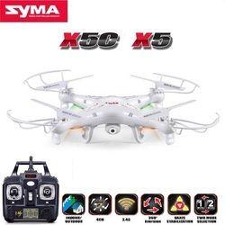 SYMA X5C (Upgrade Versi) RC Drone 6-Axis Helikopter Remote Control Quadcopter dengan 2MP HD Kamera atau X5 RC Drone Tidak Ada Kamera