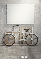 5x7ft White brick wall image background Bicycle picture background photography-studio-backdrop fond studio photo vinyle