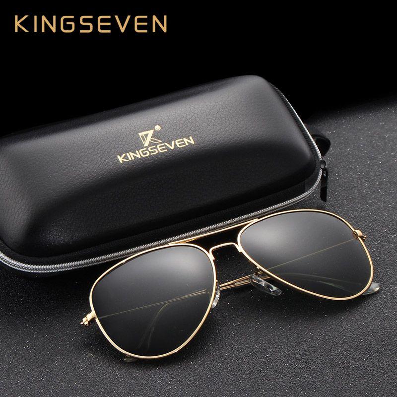 58mm rétro classique lunettes de soleil polarisées femmes KINGSEVEN marque femme lunettes de soleil pour les femmes 2019 mode Oculos Designer nuances