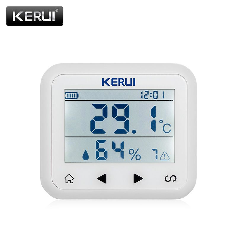 KR-TD32 wireless LED Display Adjustable temperature and humidity <font><b>Alarm</b></font> sensor Detector protect the personal and property safety.