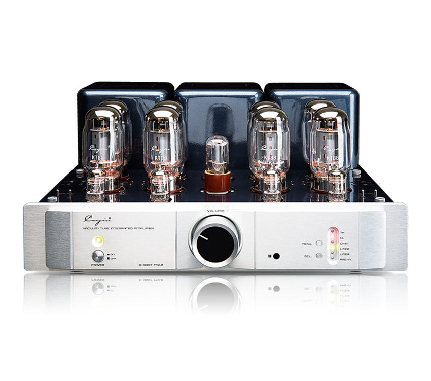 Q-001 CayinA-100TMK2 Vacuum Tube Integrated AMP TR/UL Mode Max 80Wx2 BIAS ADJ External Tube SEL 12AU7x4 6SN7x1 KT88x8