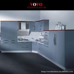 2016 индивидуальные шкафы Лидер продаж современный серый лак кухонной мебели