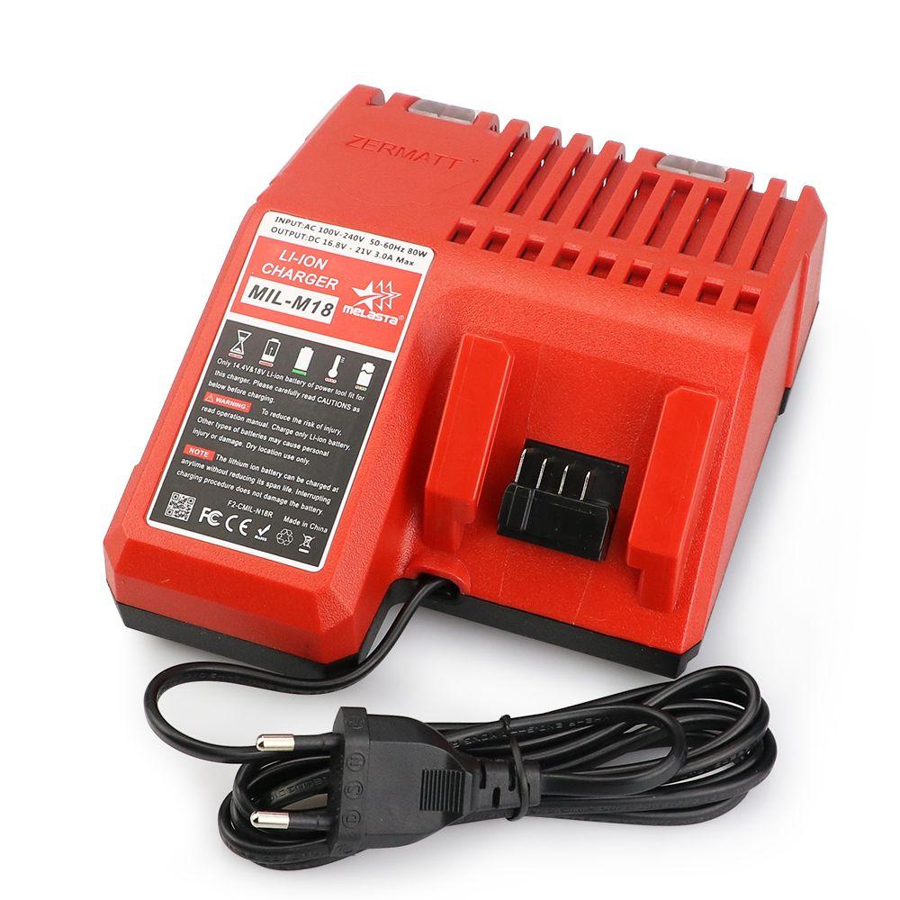 Melasta 18 V chargeur pour Milwaukee M18 Li-ion batterie 48-11-1820 48-11-1815 48-11-1840 48-1828 48-11-