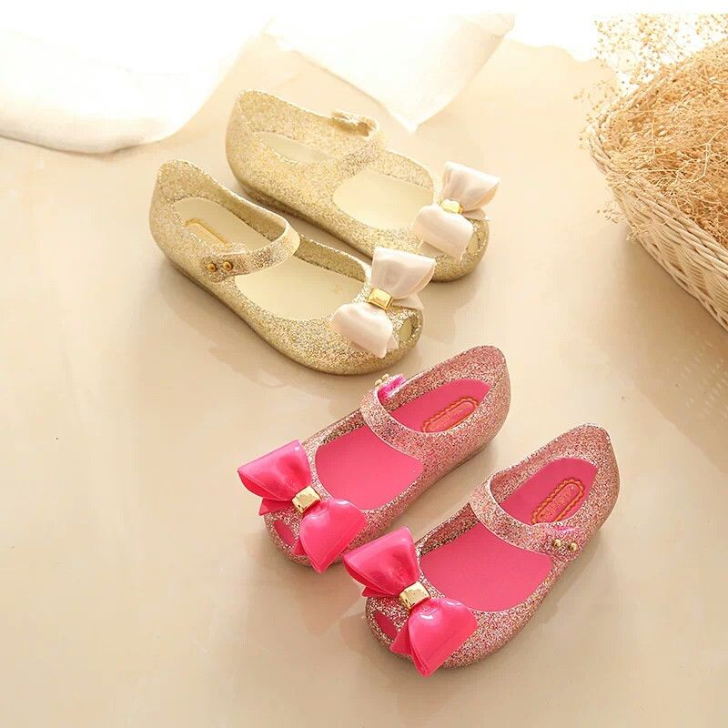 15-18 см мини Мелисса мини милые бантики прозрачные сандалии для девочек Melissa сандалии для девочек Sapato Infantil Menina детская Обувь для девочек обув...