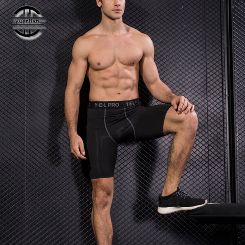 Yuerlian Hot Summer Quick Dry Gym Sports Leggings Crossfit Men's Short Football Trousers Jogging Compression Tight Running Short