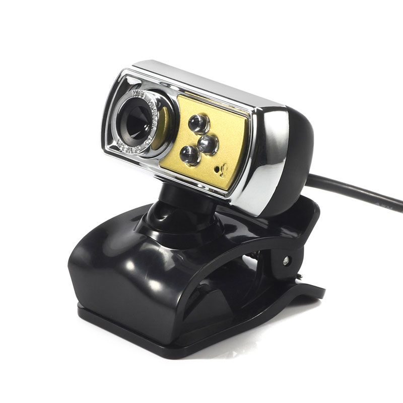 HD Webcam 12.0 MP 3 LED USB Webcam Camera with Mic & Night Vision for PC Computer