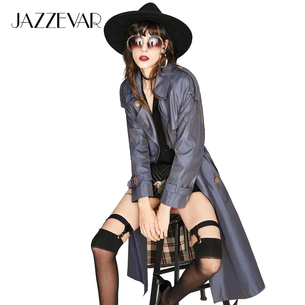 JAZZEVAR Neue High Fashion frauen Wasserdichte Baumwolle Lange Zweireiher Die Westminster Heritage Graben Mantel Top Qualität