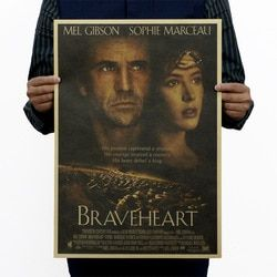 Brave Heart Vintage Kraft Paper Classic Movie Poster School Office Art Cafe Bar Decoration Retro Posters and Prints