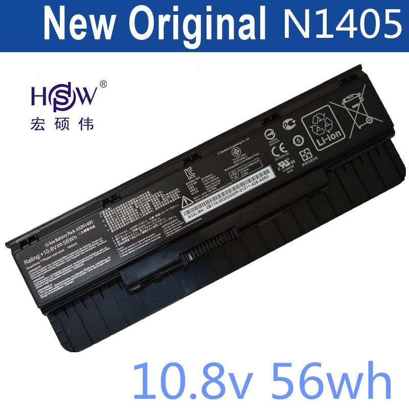 HSW Nouvel ordinateur portable batterie A32N1405 10.8 V 56WH Pour Asus G551 G551J G551JK G551JM G771 G771J G771JK N551J N551JW N551JM N551Z N551ZU