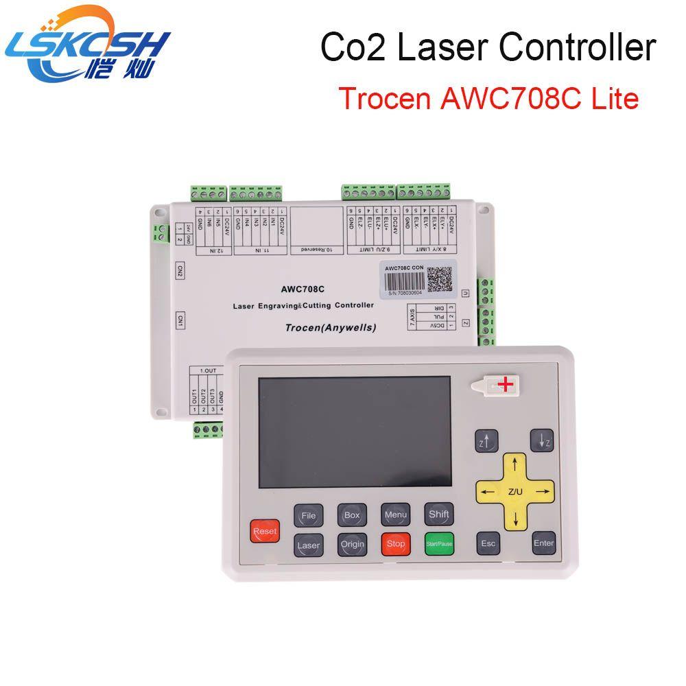LSKCSH beste verkäufer 2018 AWC708C lite Co2 laser controller Co2 laser ersatzteile für Co2 Laser schneiden maschinen großhandel