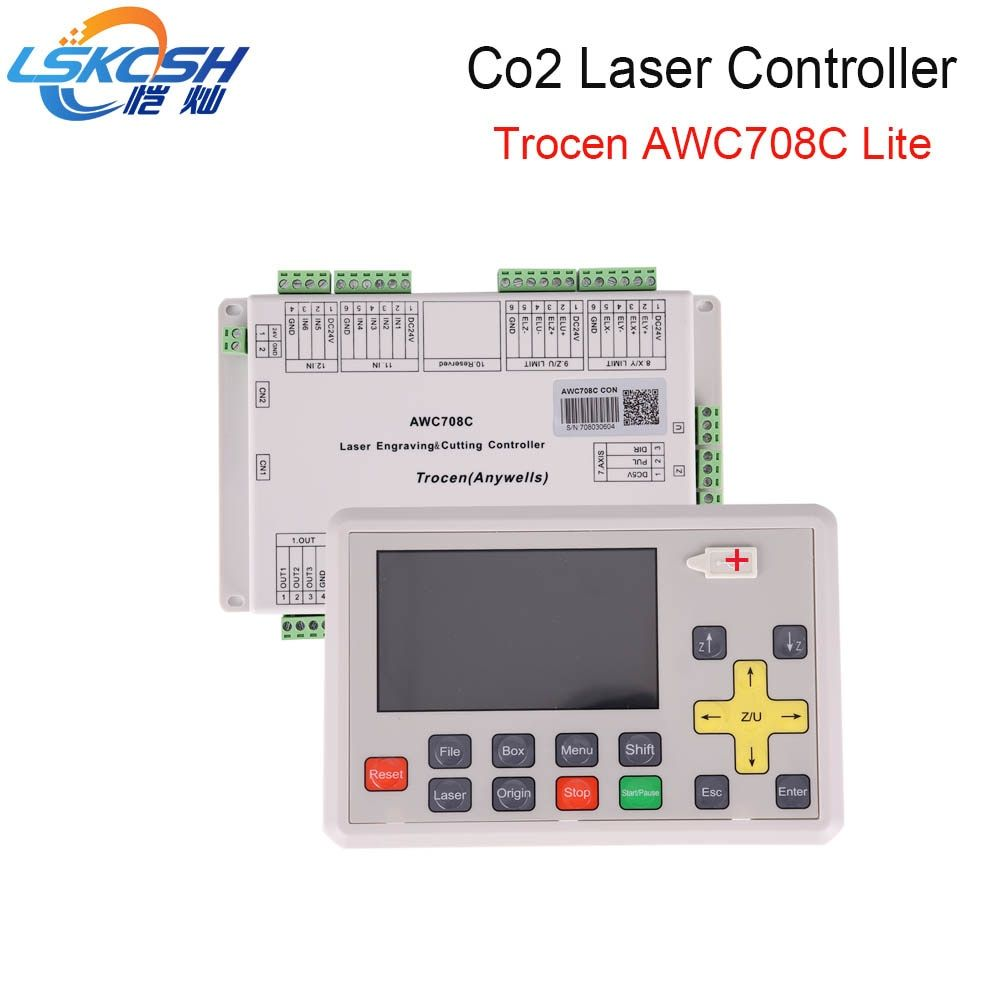 LSKCSH best seller 2018 AWC708C lite Co2 laser controller Co2 laser spare parts for Co2 Laser cutting machines wholesale