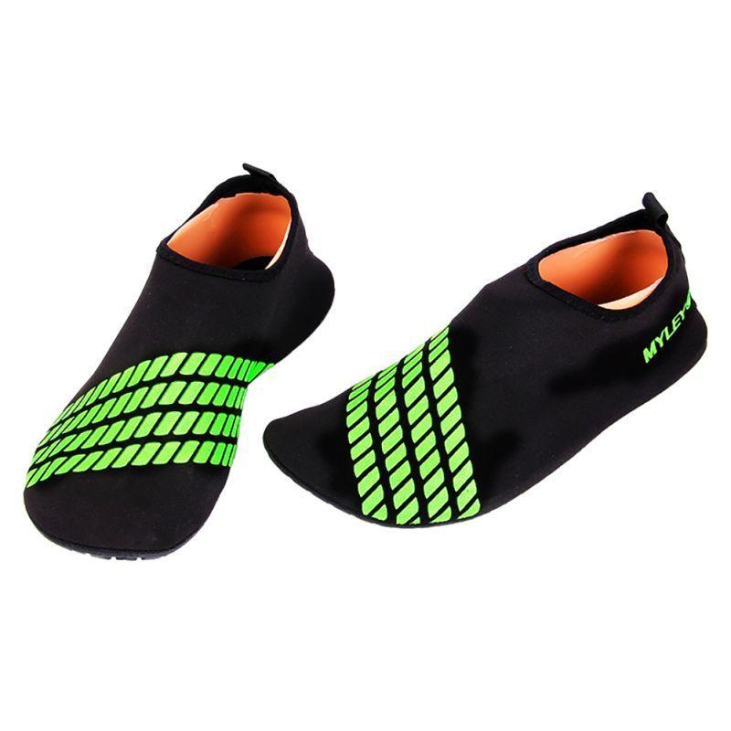 Для мужчин Для женщин босиком в полоску Обувь Пляж Бассейн тренажерный зал, водные кожи Носки для девочек