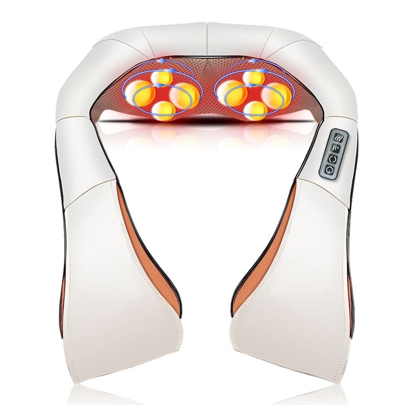 Shiatsu Cervical Back and Neck Massager Shawl Electric Roller Heat Device Manual China Home Car Massage Machine