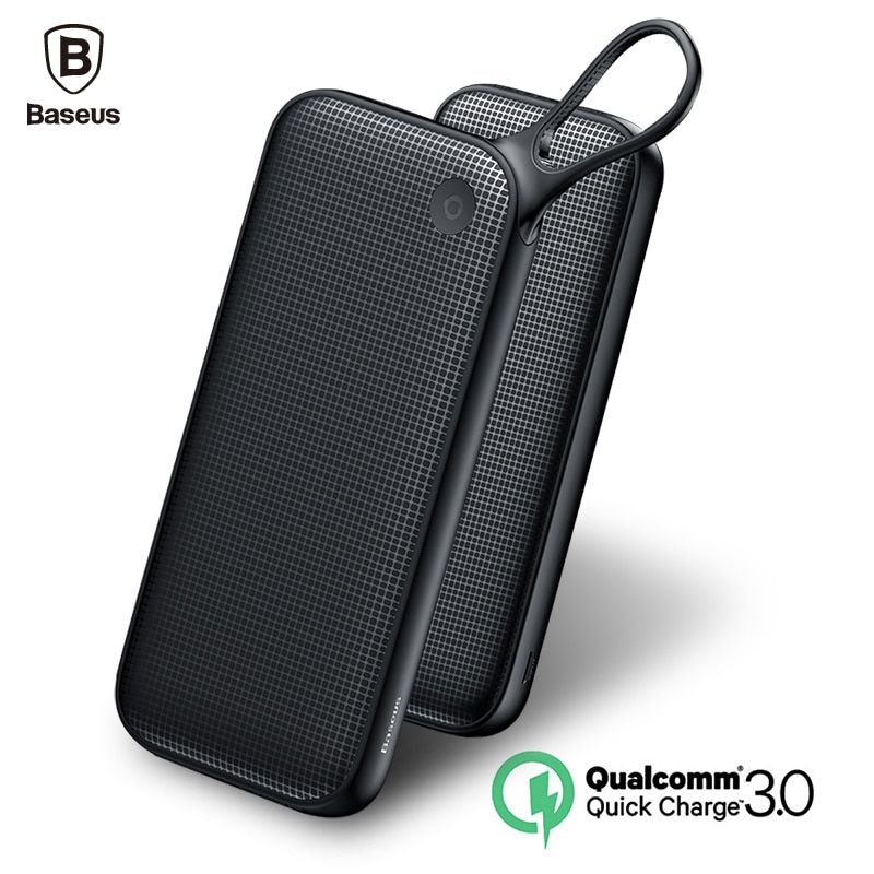 Baseus 20000mAh Quick Charge 3.0 Power Bank Dual QC3.0 + 18W Type-C PD Ports Fast Charging External Battery Charger Powerbank