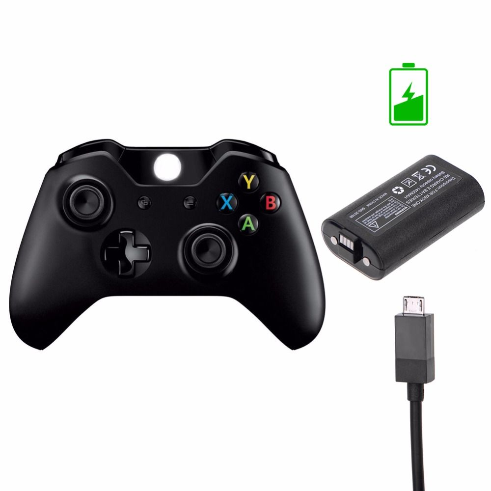 1.8m Charger Cable 1400 mAh and Rechargeable Battery For Xbox ONE Wireless Controlle Black Battery For Xbox One Elite