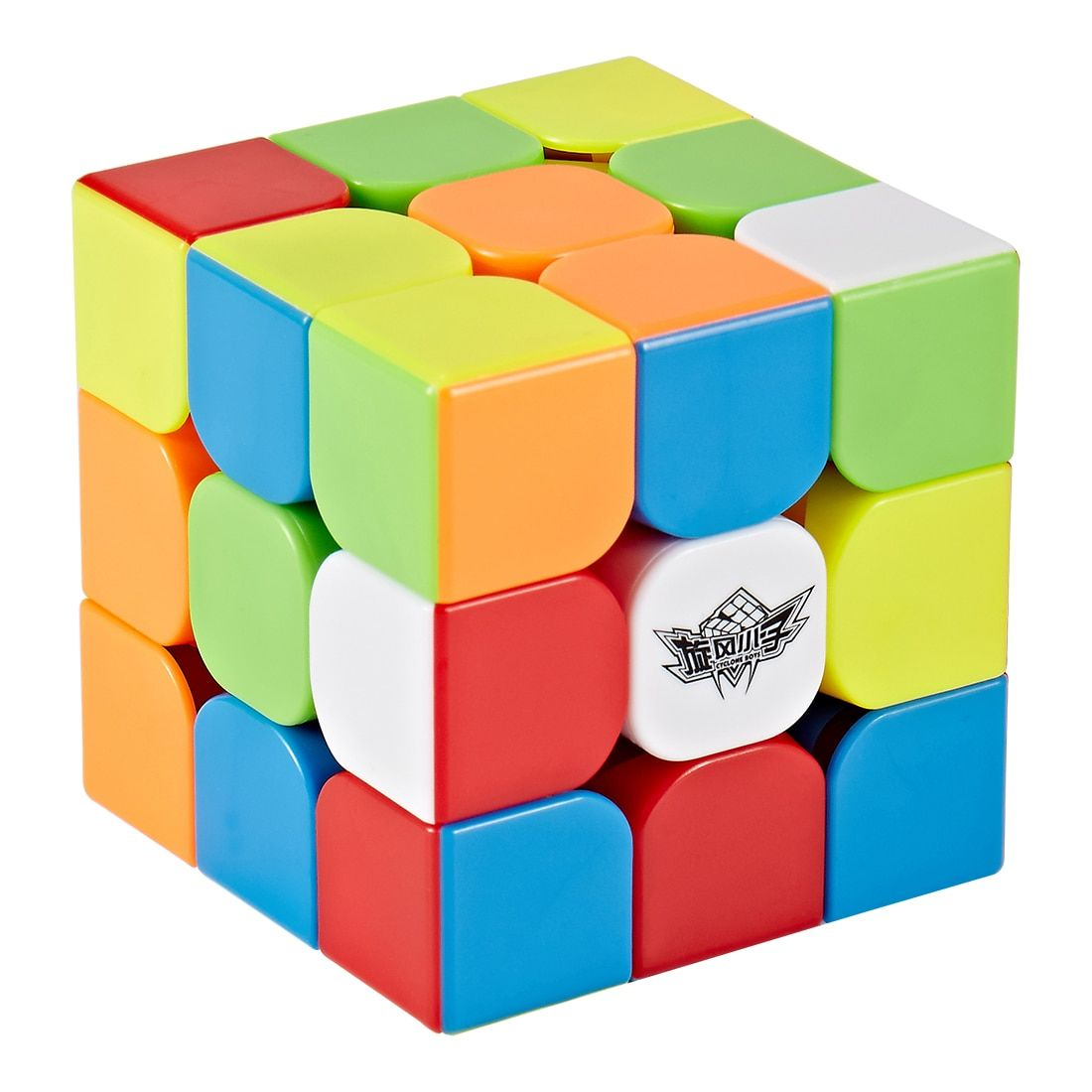Cyclone Boys Feijue 3x3 Magnetic Version Magic <font><b>Cube</b></font> Stickerless Speed <font><b>Cube</b></font> Puzzle Toy - Colorful