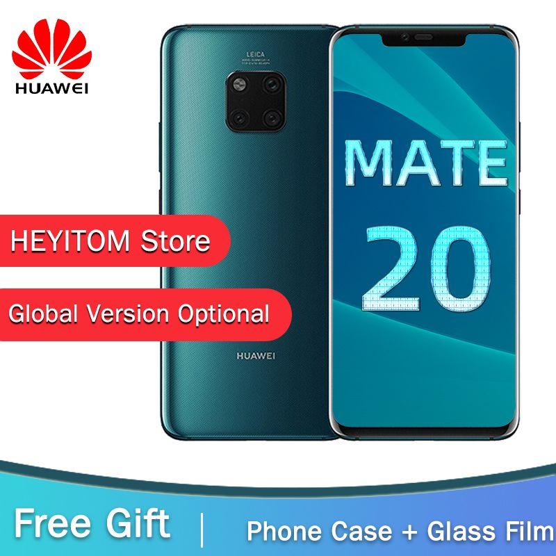 Globale Version Optional HUAWEI Mate 20 Pro Handy Volle Bildschirm Wasserdichte IP68 40MP 4 Kameras Kirin 980 GESICHT ID ENTSPERREN