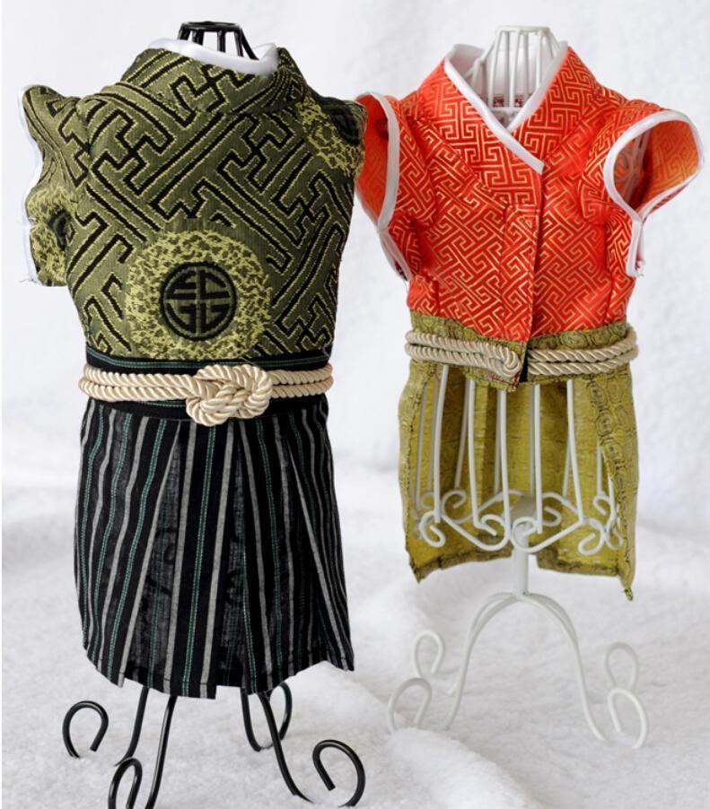 Kimono samurai Pet Chat vêtements Japon Style Chat Costumes Pet chien salopette vêtements pour petit chien chat pet