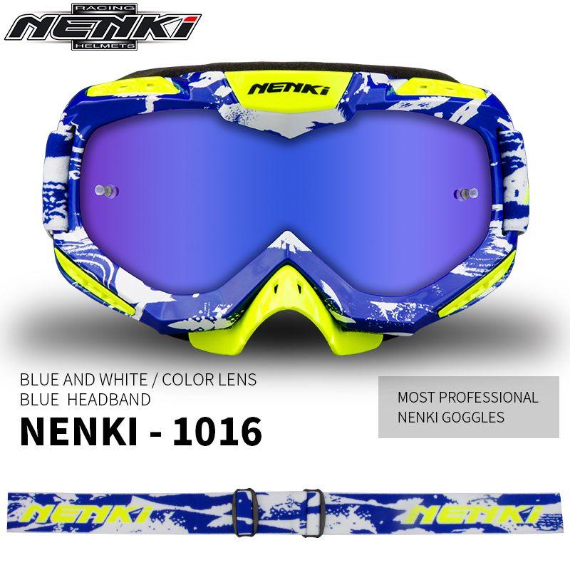 NENKI Motocross Glasses Off-Road Dirt Bike ATV DH MX Motorcycle Glasses Racing Eyewear Skiing Motocross Goggles Replaceable Lens