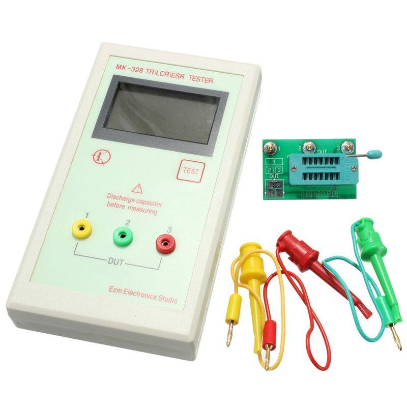 ESR Meter MK-328 TR for LCR ESR Digital Transistor Tester Inductance Capacitance Resistance 12864 LCD Screen