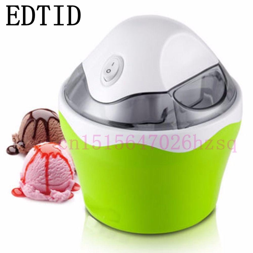 EDTID MINI household ice cream maker automatic machine for DIY Fun,green