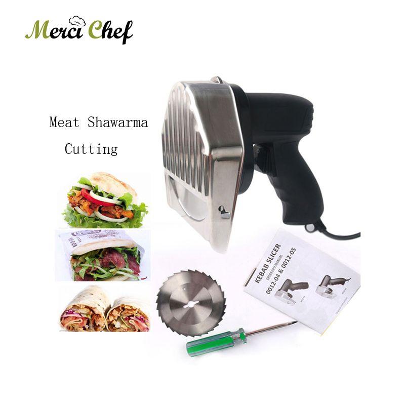 Automatische Elektrische Kebab Slicer Küche Messer Döner Cutter Gyros Fleisch Schneiden Maschine Zwei Klingen 110 V-240 V Für shawarma