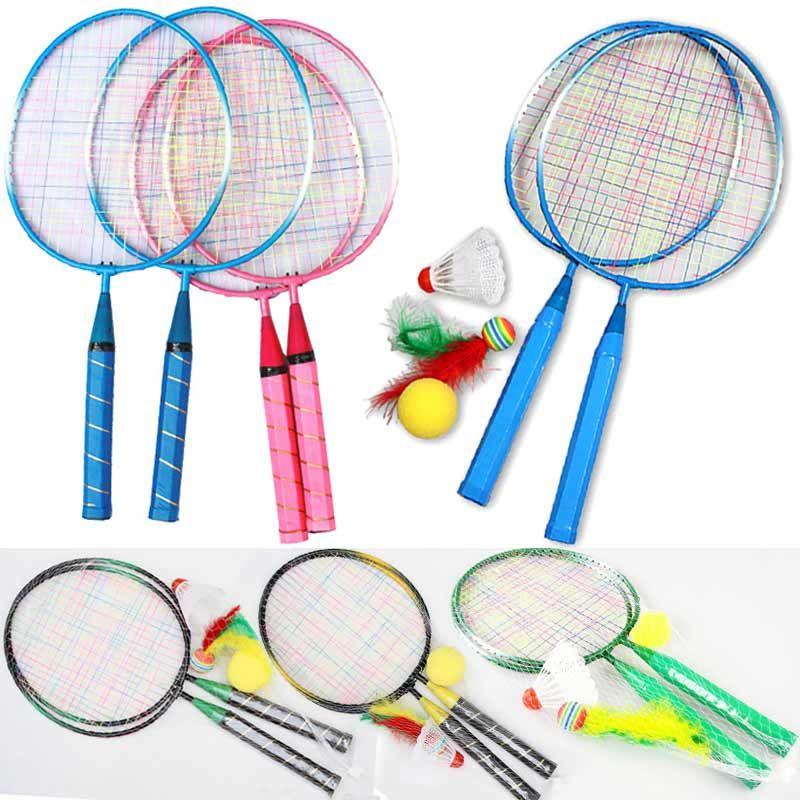 1 paar Jugend Kinder's Badminton Schläger Sport Cartoon Anzug Spielzeug für Kinder Im Freien Unterhaltung Badminton Schläger