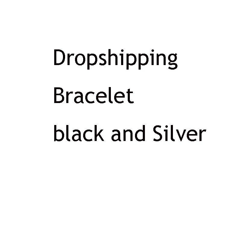 Dropshipping Bracelet black and Silver