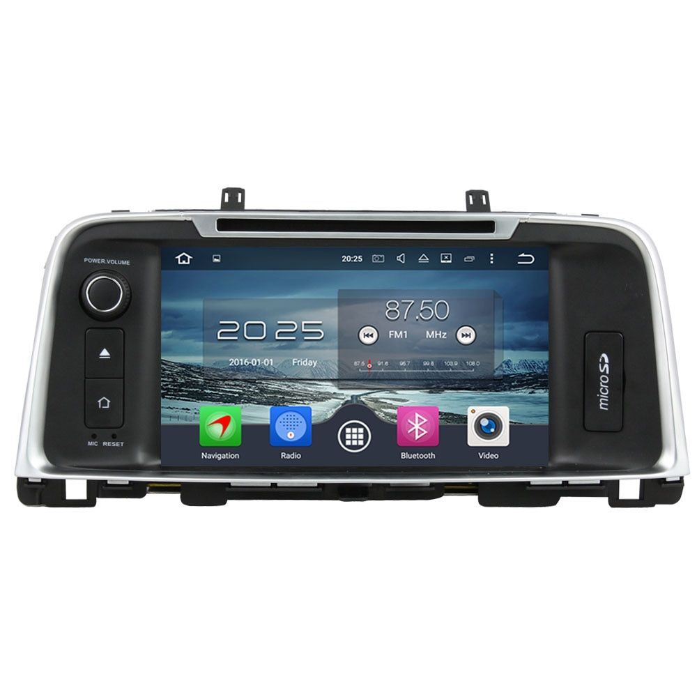 Octa Core 4GB RAM Android 6.0.1 2din Capacitive Touch Screen GPS Navi Bluetooth Car radio For Kia K5 Optima 2015 2016 2017