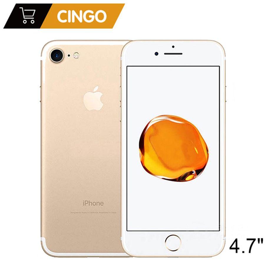 Apple iphone 7 4g LTE handy IOS Quad Core 2 gb RAM 32/128 gb/256 gb ROM 12.0MP Fingerprint Original entsperrt iphone 7