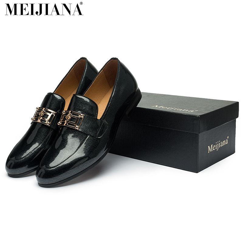 2017 мужские кожаные туфли meijiana бренд ручной работы удобные торжественное платье мужские туфли на плоской подошве