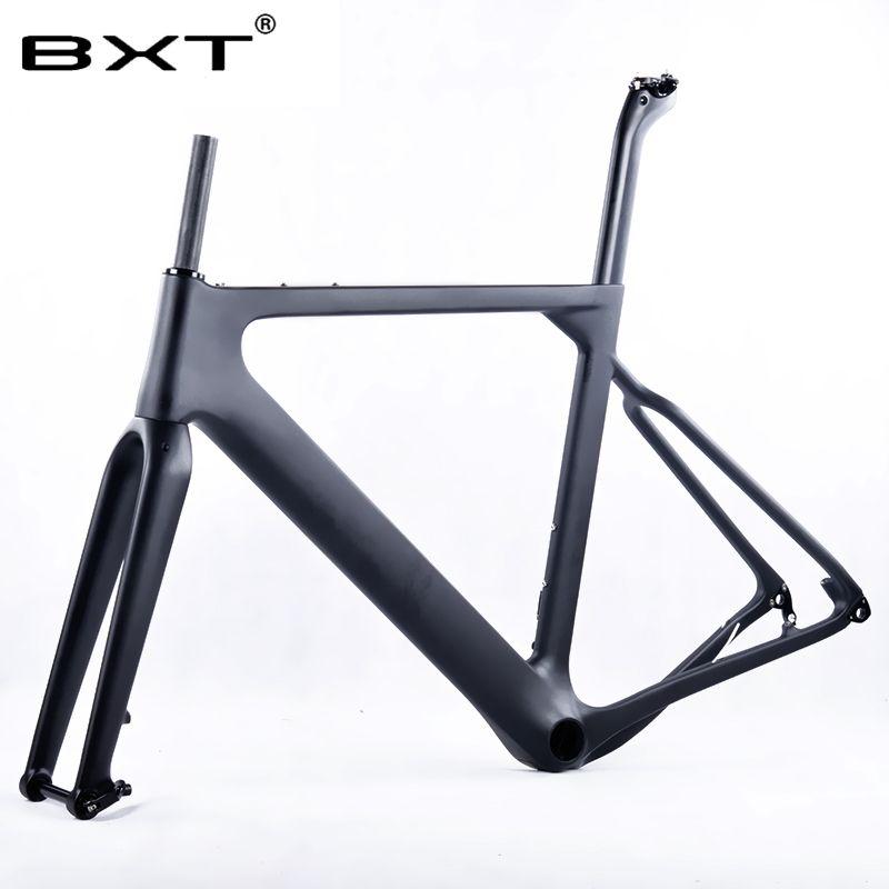 2018 BXT Carbon Kies Fahrradrahmen aero Road oder MTB rahmen 142x12mm scheibenbremse Cyclocross Kies Carbon Fahrradrahmen