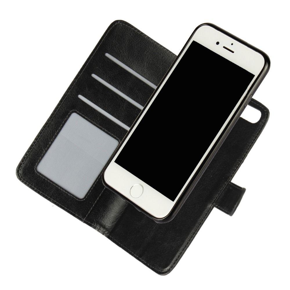 Für iPhone 8 7 6 Plus SE Abnehmbare Magnet Fall Flip Brieftasche Leder Abdeckung 2 in 1 Handytasche Für iPhone 8 Plus 7 6 S 5 S 5 S Coque