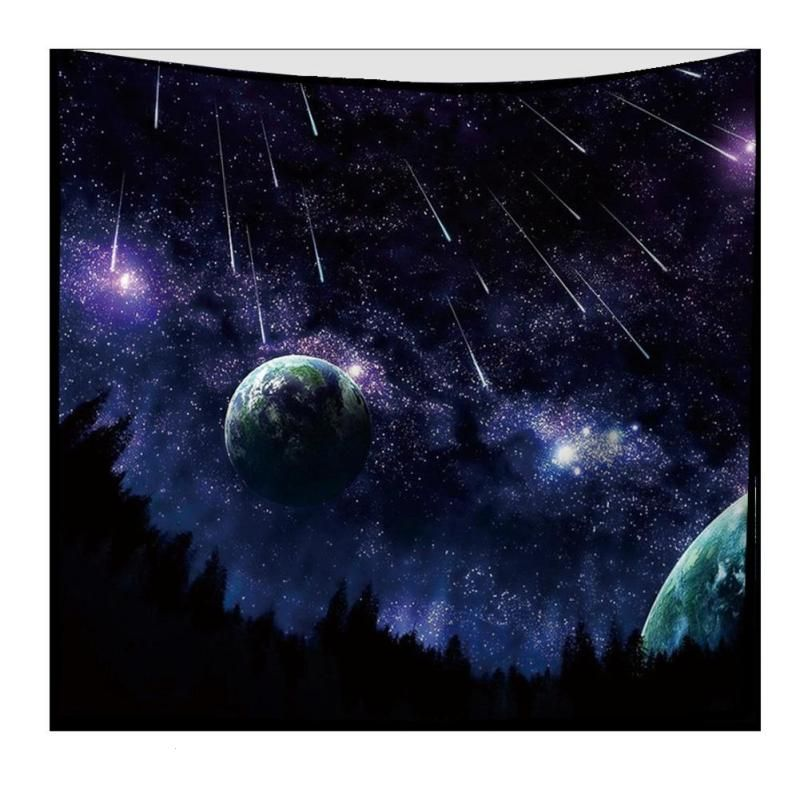 Cosmic Tapestry Universe Planet Polyester Tapestry Wall Mount Beach Tank Yoga Mat Tenture Mural Home Decorative Tapestry R4