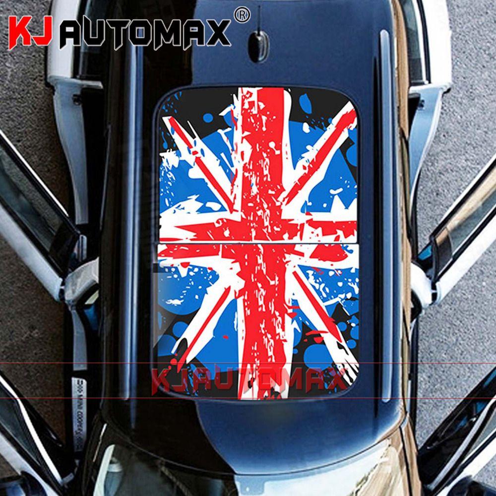 Für Mini Cooper Dach Aufkleber Perforierte Vinyl Aufkleber Schiebedach Grafik Union Jack R55 R56 R60 R61 F54 F55 F56 Countryman zubehör