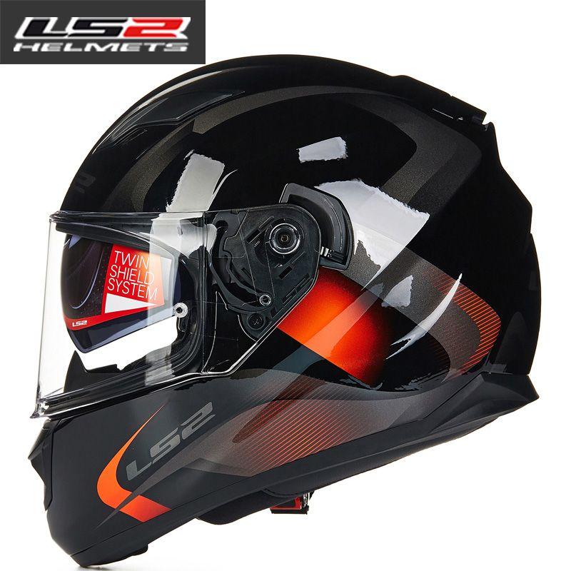 Original LS2 FF328 full face motorcycle helmet with inner sun visor women man casco moto Racing motorbike Helmets LS2 Capacete