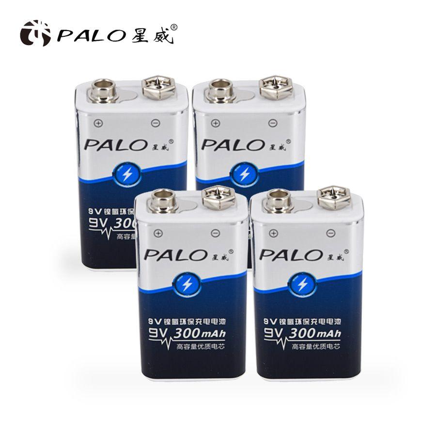 Prix bas et haute qualité 4 pièces 6LR61 6F22 006 p 9 V nimh 300 mah batterie rechargeable pour instruments ou batteries