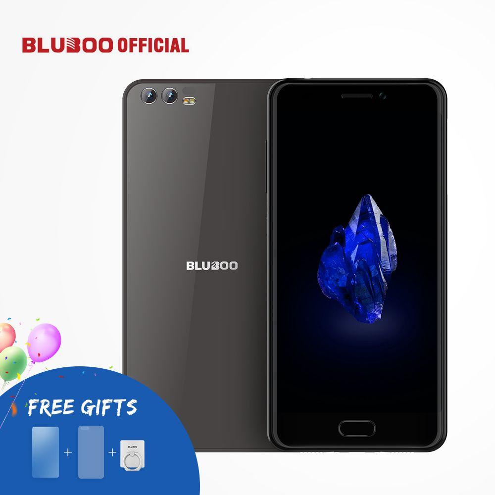 BLUBOO D2 5.2'' 3G Smartphone MTK6580A Quad Core Android 6.0 1G RAM 8G ROM Cellphone Dual Rear Camera 3300mAh Mobile Phone