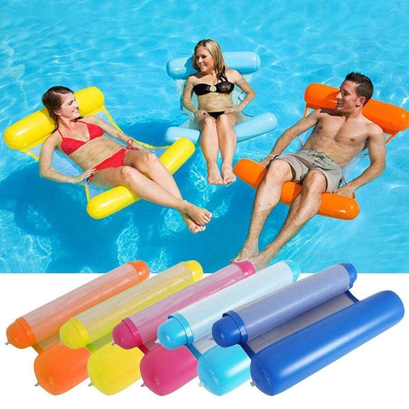 YUYU nouveau lit de flotteur de piscine gonflable 120 cm * 70 cm eau chaise longue gonflable flotteur natation flotteur hamac lit de salon pour la natation
