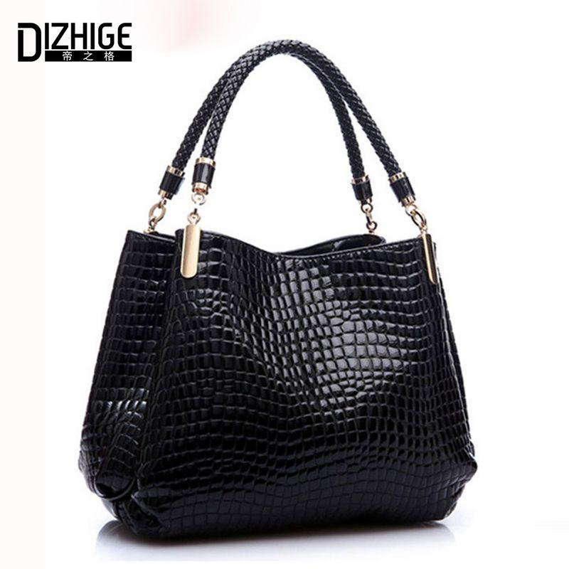 <font><b>Famous</b></font> Designer Brand Bags Women Leather Handbags 2018 Luxury Ladies Hand Bags Purse Fashion Shoulder Bags Bolsa Sac Crocodile