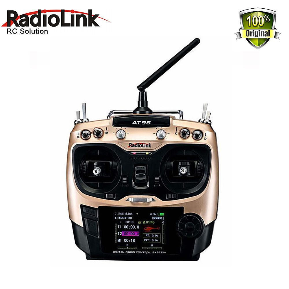Radiolink AT9S 2.4G 9CH RC System Transmitter with R9DS Receiver AT9 Remote Control update vision for quadcopter Helicopter