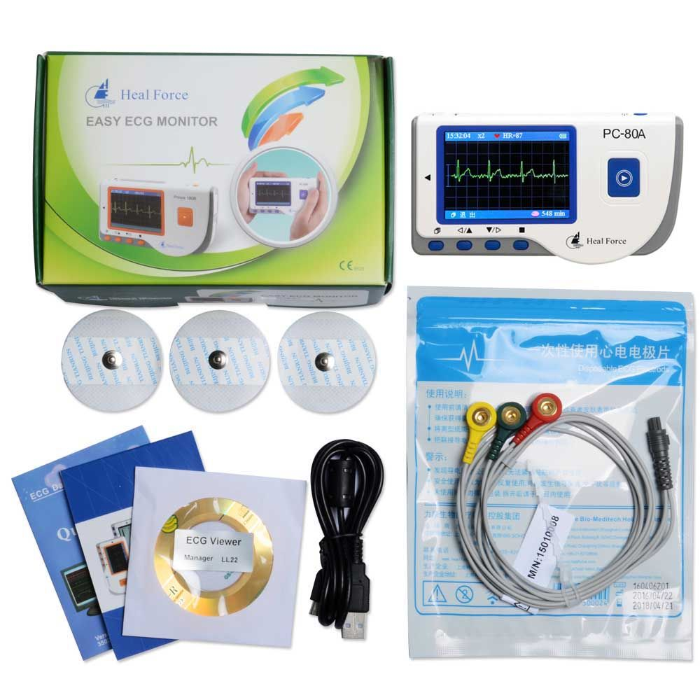 Heal Force PC-80A Bluetooth Portable Household Heart Ecg Monitor CE & FDA Approved